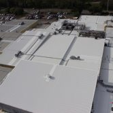 aerial shot of roofing works mccain foods australia